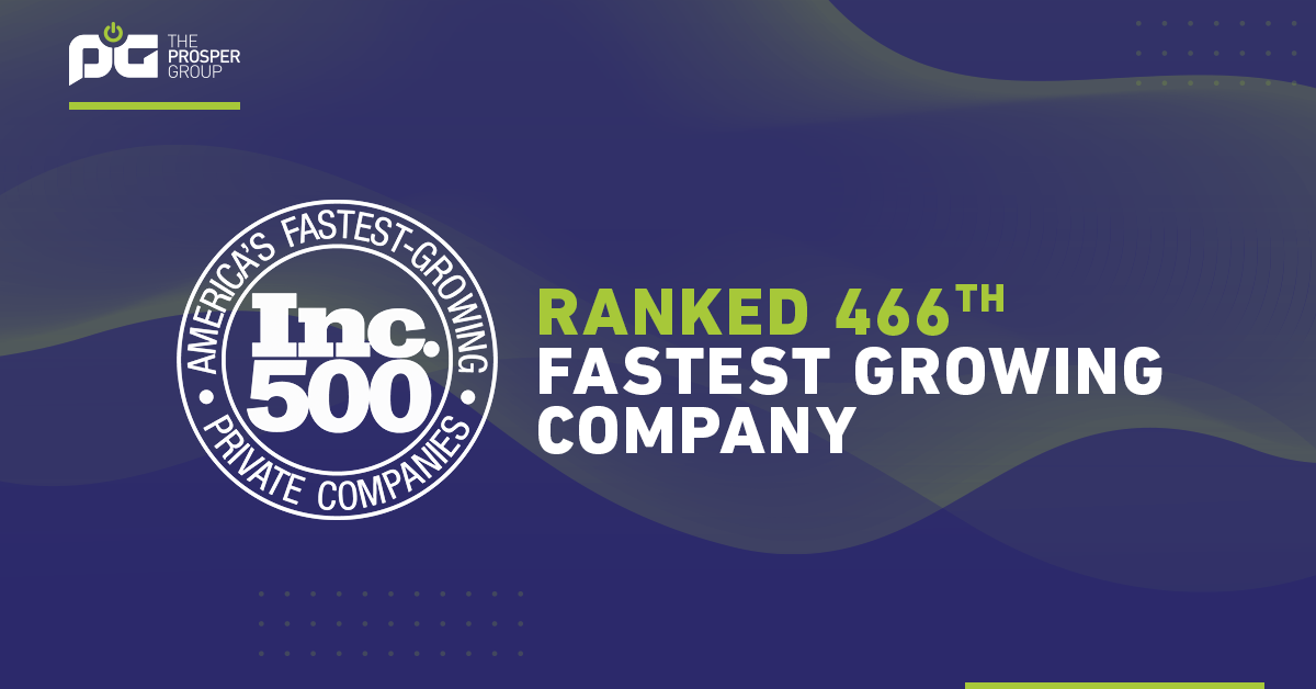 Prosper Group in the Inc 5000